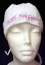 Chemo Cancer Head Cover Hat Pink Embroidery Quiet Hair Growing Awareness New - $15.49