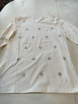 Gap Kids girl's off white shirt with bling on front cotton/poly  XXL - $9.99
