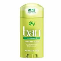 Ban Antiperspirant Deodorant, Invisible Solid, Unscented 2.60 oz - $5.37