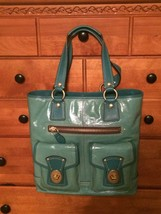 Coach Rare Turquoise Patent Gigi 11965. Price Lowered And FREE shipping!!!! - $400.00