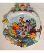 """Disney Pooh Plate """"A Smackeral of Fun for Everyone"""" 1998 #36566D First I... - $44.54"""