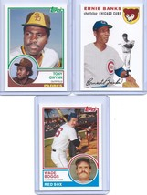 Ernie Banks Tony Gwynn Wade Boggs Topps Rookie Of The Week 3 Card Lot! # Of 25! - $3.99