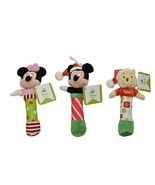 Kids Preferred Baby Chime Stick Rattles Christmas, 3 pack Mickey/Minnie/... - $13.81