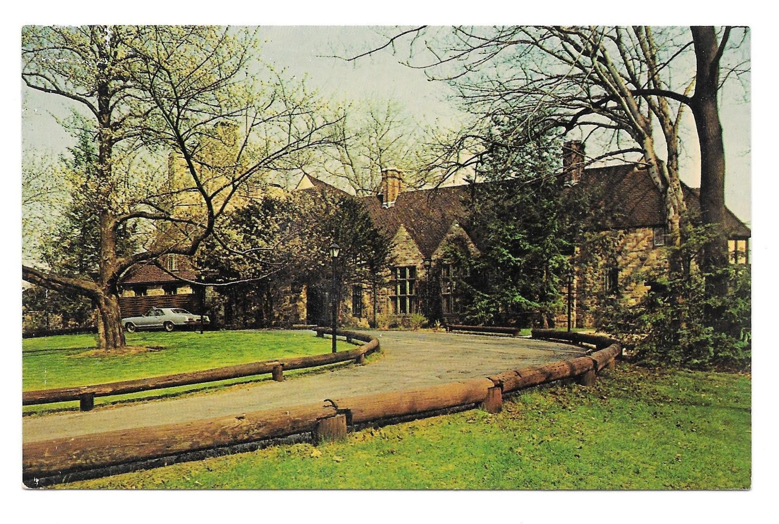 Reading PA Stokesay Castle Restaurant Front Drive and Back Lawn 2 postcards