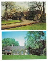 Reading PA Stokesay Castle Restaurant Front Drive and Back Lawn 2 postca... - $4.99