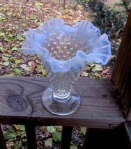 """fenton hobnail ruffled glass vase, 7-1/2"""" - $15.00"""