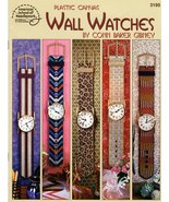 Plastic Canvas Wall Watches by Conn Baker Gibney Designs Southwest, Jung... - $6.50