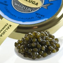 Kaluga Fusion Sturgeon Caviar, Amber - Malossol, Farm Raised - 1 oz, glass jar - $72.28