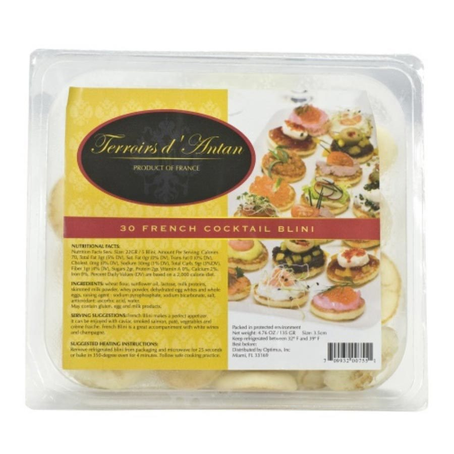 French Cocktail Blinis - 30 count - 30 blinis - $6.32