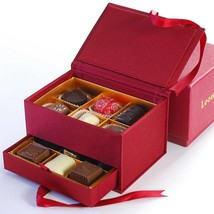Leonidas Jewelry Box - Red - 1 Large Jewelry Box (30 pcs) - $49.35