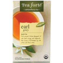 Tea Forte Earl Grey Black Tea - 16 Filterbags - 16 Forte Filterbag Box - $7.88