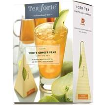 Tea Forte White Ginger Pear Iced Tea - White Tea - 40 Infusers - $80.85