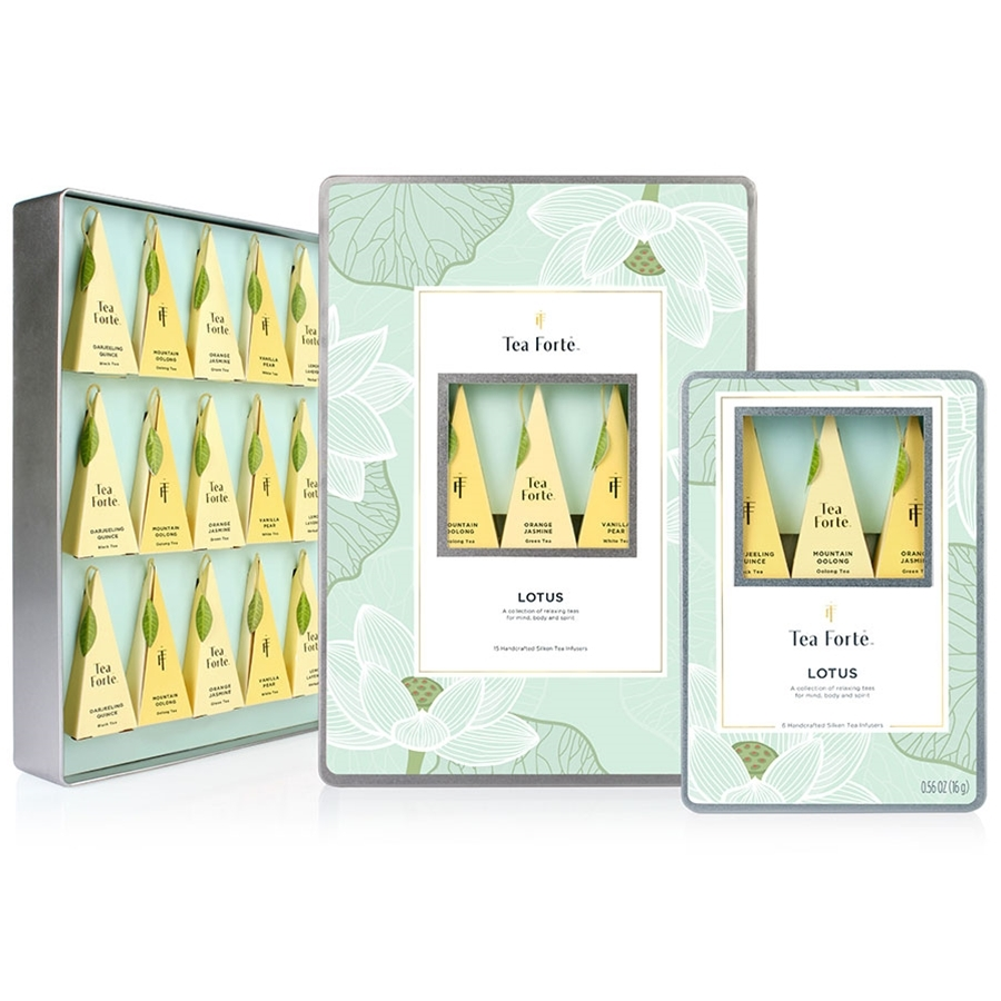 Tea Forte Lotus Collection Infusers Organic Teas - 10 Infusers Petite Ribbon Box - $26.00
