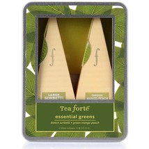 Tea Forte Essential Greens Collection Infusers - 10 Infusers Petite Ribbon Box - $25.72