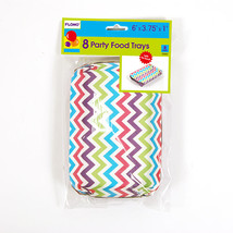 Chevron Printed Party Trays 6 X 3.75 X 1/Case of 288 - $70.19
