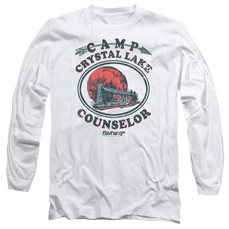 Friday the 13th Jason Camp Crystal Lake Counselor Horror Long Sleeve Tee WBM622