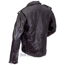 Patchwork leather motorcycle jacket back gfmot 1800 thumb200