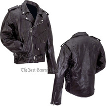 Patchwork leather motorcycle jacket combo gfmot 1800 thumb200