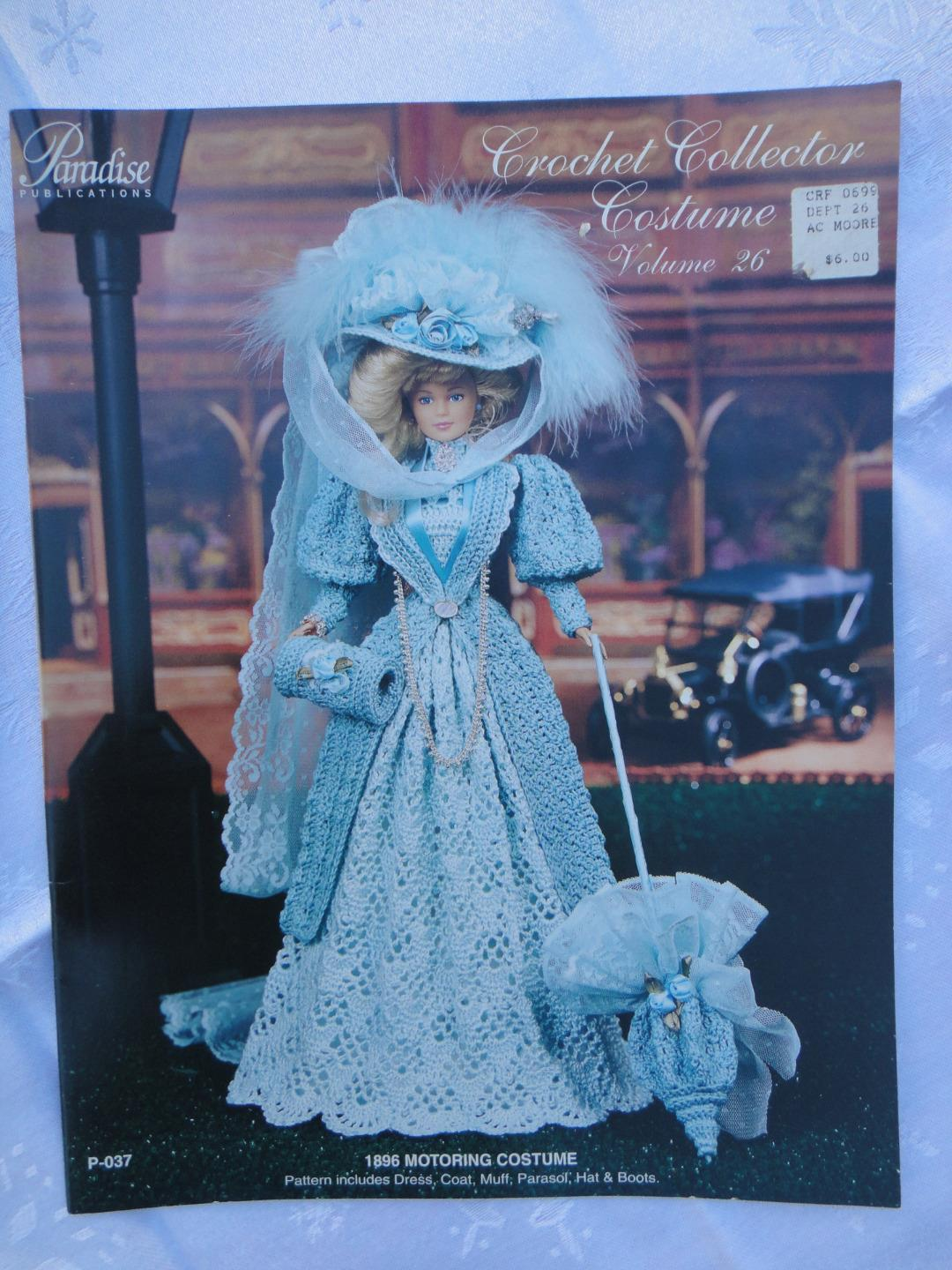 "Primary image for 1896 MOTORING COSTUME Paradise Crochet 11 1/2"" Doll Costume Pattern P-037"