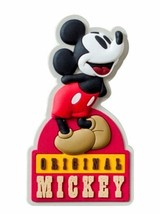 Walt Disney Retro Original Mickey Mouse Soft Touch PVC Refrigerator Magnet NEW - $3.99