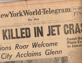 New York World-Telegram & Sun March 1,1962 - $4.90