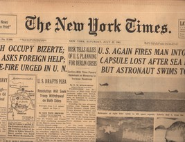 The New York Times July 22,1961 - $8.50