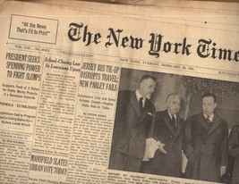 The New York Times February 20, 1962 - $5.95