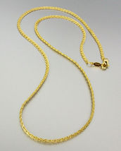 CLASSIC 18 kt Gold EP Plated 18 Inch Weave Chain Necklace - $10.44