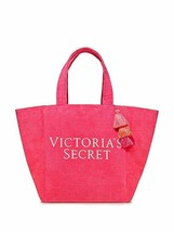 Victorias Secret Limited Edition Pink Terry Cloth Tote Bag Beach Gym Tot... - $19.99