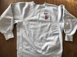 Champion REVERSE WEAVE UIC Illinois Chicago Flames XL Sweatshirt Grey Rare - $42.75