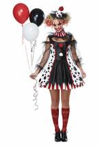 California Costume Twisted Clown Circus Adult Womens Halloween Costume 01435 - $38.59