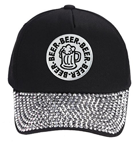 Beer Mug Hat - Adjustable Cap Style Color Options (Rhinestone)