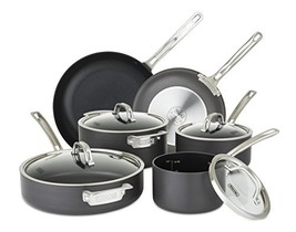 Viking 40051-9910 Hard Anodized Nonstick Cookware Set, 10 Piece, Gray - £607.37 GBP
