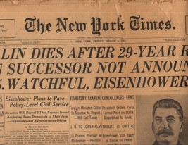 The New York Times March 6, 1953 - $5.95