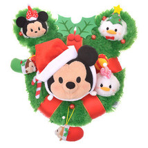 Disney TSUM TSUM 2017 Christmas wreath Stuffed Doll Mickey & Friends Plu... - €87,09 EUR
