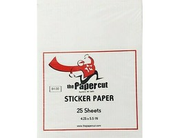 The Paper Cut Sticker Paper, 4.25 x 5.5 Inches, 25 Sheets