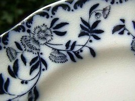 c1895 William Alsager Adderley Flow Blue 7.2 Inch Plate Lucern pattern - $32.05