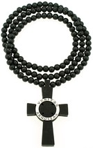 Veritas Aequitas Truth & Justice New Wood Pendant Beaded Necklace 36 Inches  - $14.95