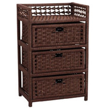 Wicker Storage Bathroom Furniture Home Outdoor Chest Organizer Tissue Paper - $115.95