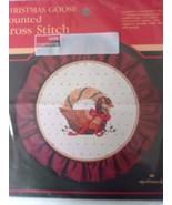 """Christmas Goose"" Counted Cross Stitch Kit, Hallmark Brand - $7.79"