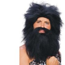 Wig - Pre-Historic - Black - Adult Caveman Beard & Wig Set - Costume Acc... - $9.30