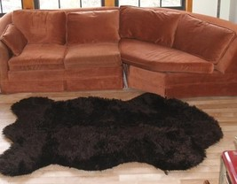 "3' 5"" x 4' 6"" Faux Fur Russian Brown  Bear Rug, Fake Bear Rug, Fake Bearskin - $69.00"