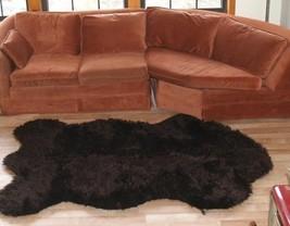 "3' 5"" x 4' 6"" Faux Fur Russian Brown  Bear Rug, Fake Bear Rug, Fake Bear... - $69.00"
