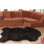 "3' 5"" x 4' 6"" Faux Fur Russian Brown  Bear Rug, Fake Bear Rug, Fake Bear... - $69.00"