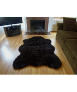 Faux Fur Brown Bear Rug from France, 5 x 7  Fake Bear Rug, non-skid backing - $89.00