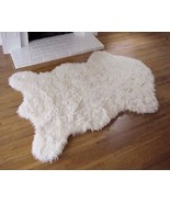 "3' 5"" x 4' 6"" Faux Fur Polar Bear Rug, Fake Bear Rug, Fake Bearskin - $89.00"