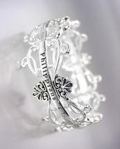 Inspirational Silver Filigree Links Philippians 4:13 Stretch Bracelet - $12.34