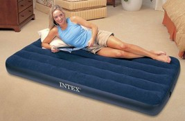 Intex Classic Downy Bed Air Mattress Bedding Airbed Camping Pillow Rest ... - $29.68