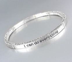 Inspirational I CAN DO EVERYTHING PHILIPPIANS 4:13 Scripture Stretch Bra... - ₨583.69 INR