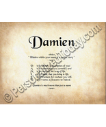 Damien Hidden Within Your Name Is A Special Sto... - $8.95